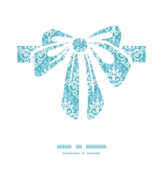 Light blue swirls damask gift bow vector