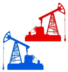 Oil pumpjack oil industry equipment vector
