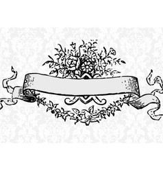 Victorian scroll vector