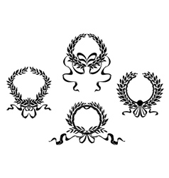 Royal laurel wreaths vector