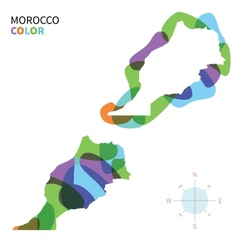 Abstract color map of morocco vector