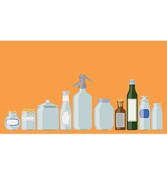 Jars and bottles vector