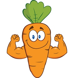 Cartoon carrot vector