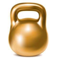 Kettlebell weight gold vector