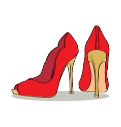 Pair of womens shoes vector