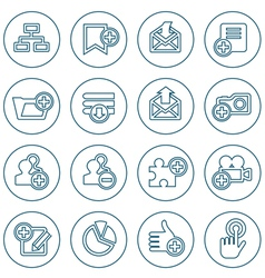 Thin line web icons set vector