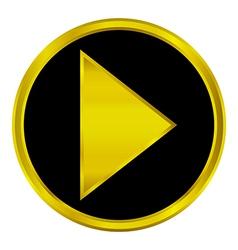 Play sign button vector