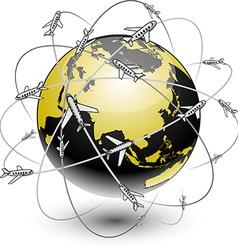 Communication earth - eurasia vector