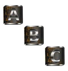Abc iron letters vector