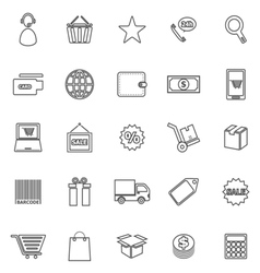 E commerce line icons on white background vector