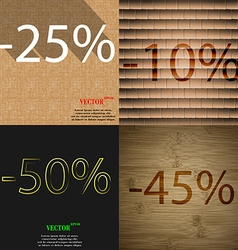10 50 45 icon set of percent discount on abstract vector