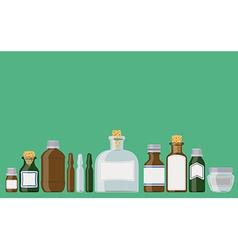 Medicine bottles vector