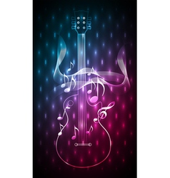 Abstract blue red music instrument vector