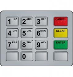 Atm keypad vector