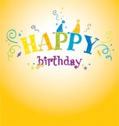 Bright birthday vector