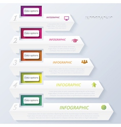 Abstract design infographic with numbers vector