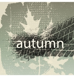 Old autumn background vector