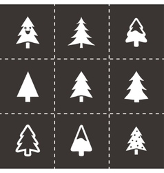 Cristmas trees icons set vector