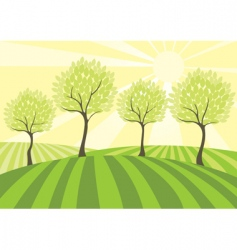 Country field vector