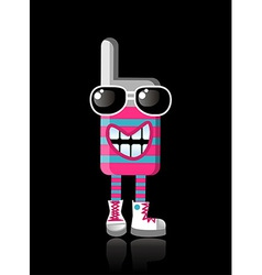 Happy funky colors mobile phone mascot vector