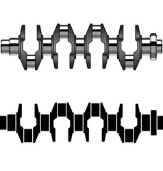 Steel motor crankshaft vector