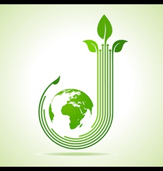 Ecology concept business concept vector