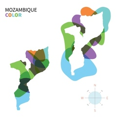 Abstract color map of mozambique vector