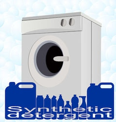 Washer and detergents vector