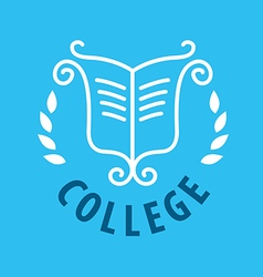 Logo patterns and books for college vector