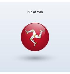 Isle of man round flag vector