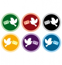 Icons of doves vector