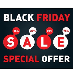 Black friday sale banner on dark background vector