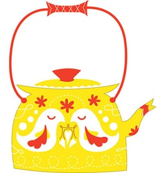 Cute kettle vector