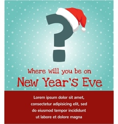 Invitation for new year party vector