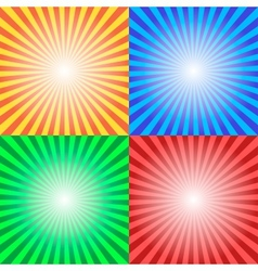 Color sun sunburst background vector