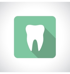 Tooth icon with shadow vector