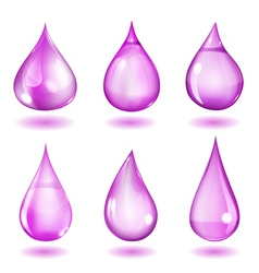 Opaque violet drops vector