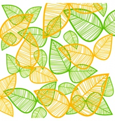 Leaf pattern vector