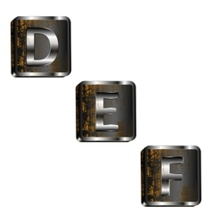 Def iron letters vector