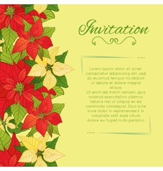 Floral background with poinsettia vector