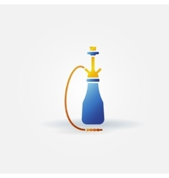 Hookah bright icon or logo vector