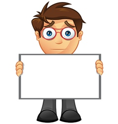 Business man blank sign 13 vector