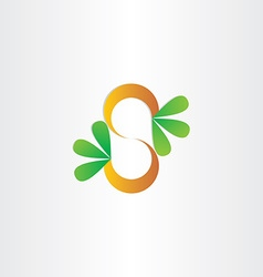 Letter s plant with green leafs vector