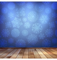 Winter interior walls decorated snowflakes eps 10 vector