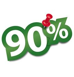 Ninety percent sticker vector