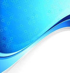 Blue abstract cell background with border element vector