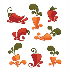 Pepper and carrot vector