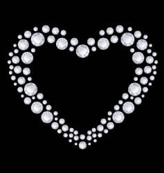 Diamonds heart vector