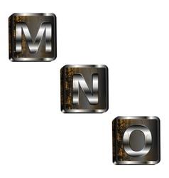Mno iron letters vector