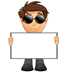 Business man blank sign 14 vector